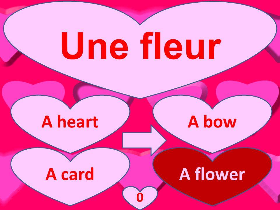 Une fleur A heartA bow A cardA flower 3210