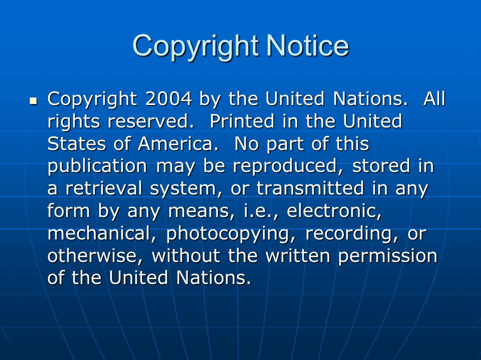 Copyright 2004 by the United Nations. All rights reserved.