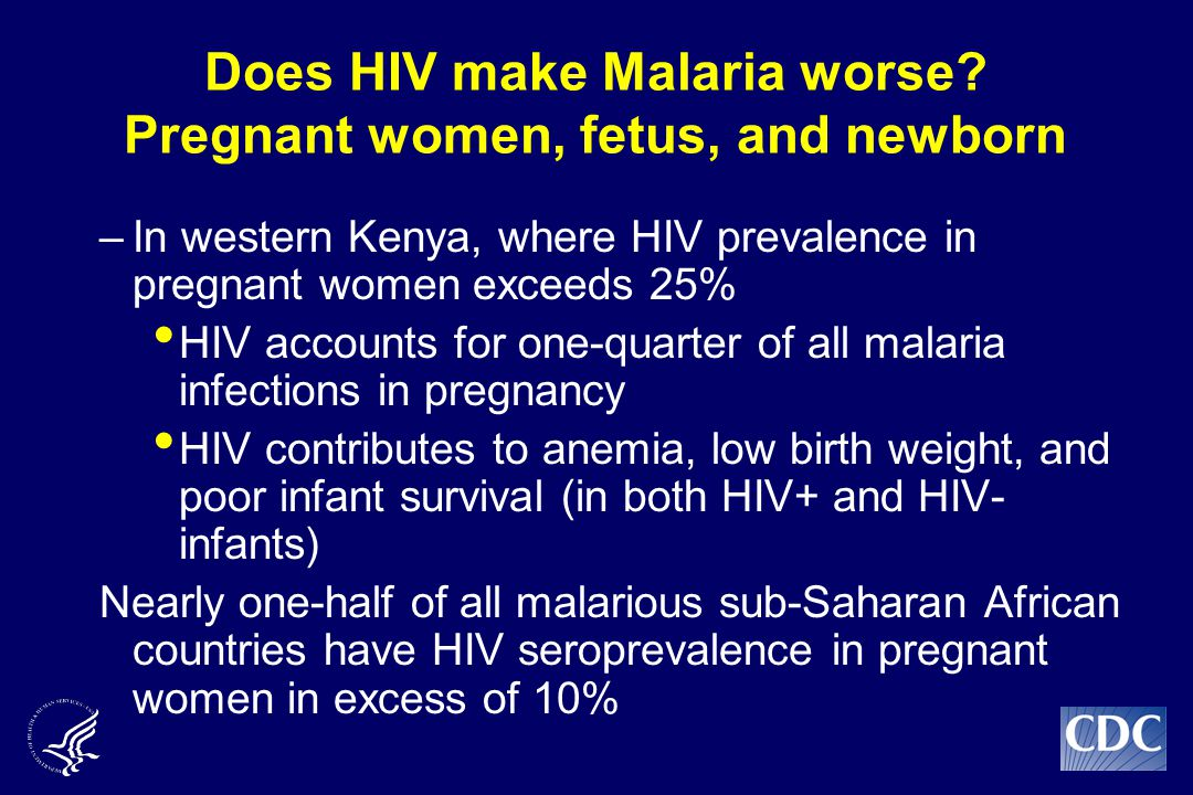 Does HIV make Malaria worse.