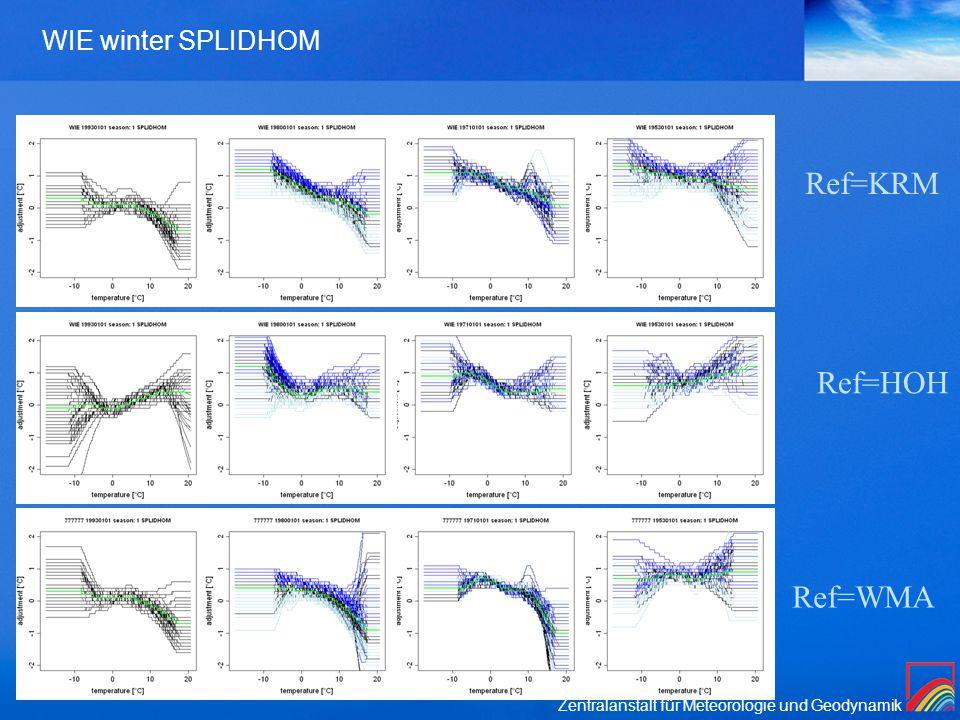 Zentralanstalt für Meteorologie und Geodynamik WIE winter SPLIDHOM Ref=KRM Ref=HOH Ref=WMA