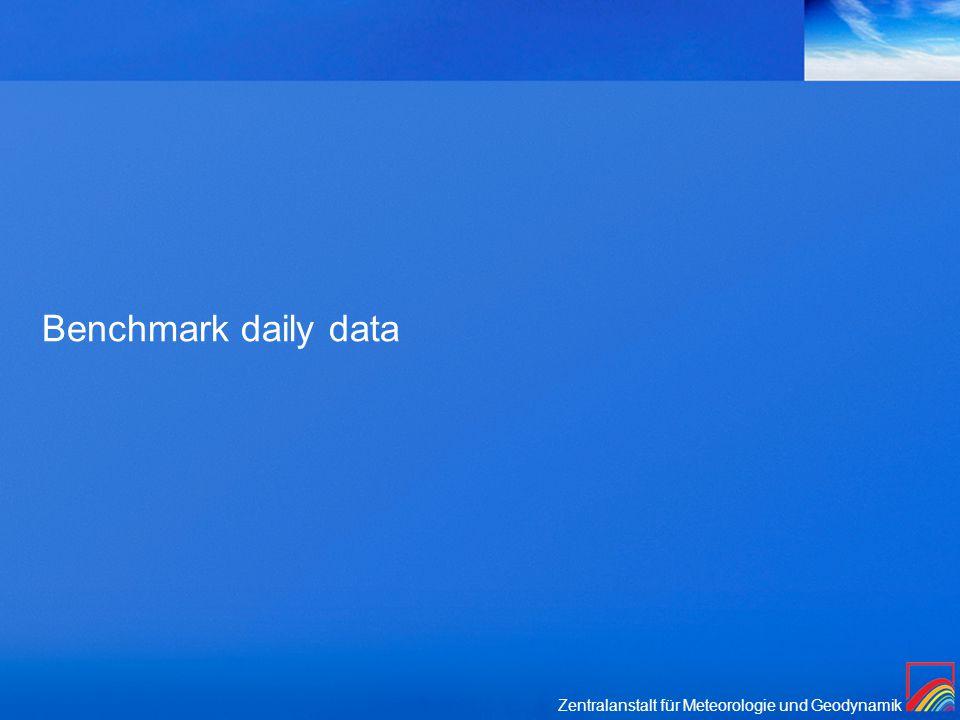 Zentralanstalt für Meteorologie und Geodynamik Benchmark daily data