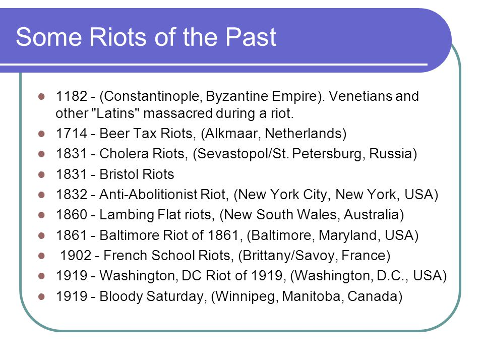 Some Riots of the Past 1182 - (Constantinople, Byzantine Empire).