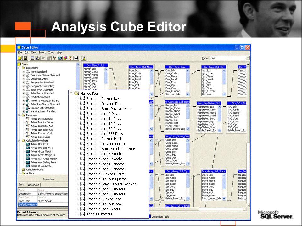 Analysis Cube Editor