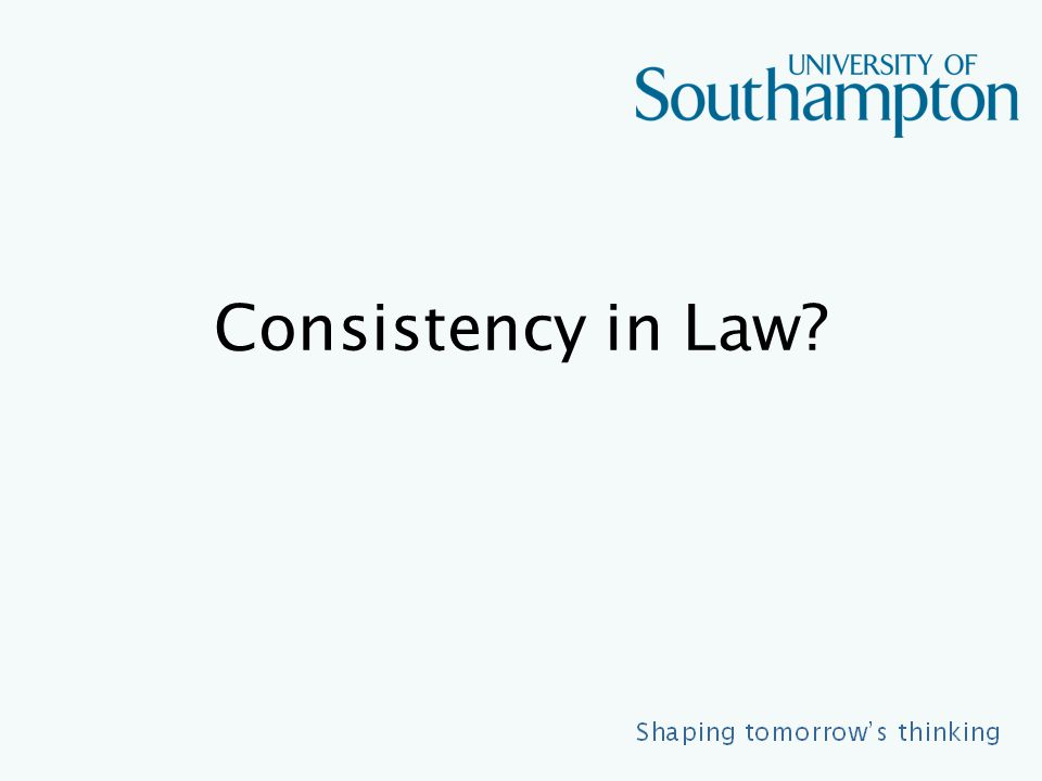 Consistency in Law