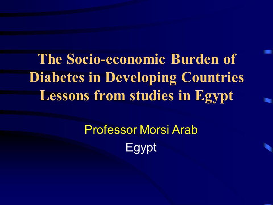 Estimated Costs of Ambulatory (out patient) Treatment of Diabetes in Egypt at 2001 Cost Prices in USD/ year Estimated Costs of Ambulatory (out patient) Treatment of Diabetes in Egypt at 2001 Cost Prices in USD/ year (A) Insulin ( Dose 10-80 units /d ) (B) Oral Antidiabetic Agents * Heavily subsidized ** moderately subsidized
