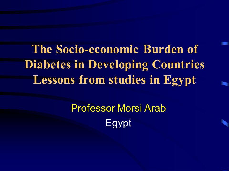 Socioeconomics of Diabetes 1- The patient and human environment.