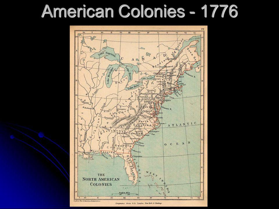 American Colonies - 1776