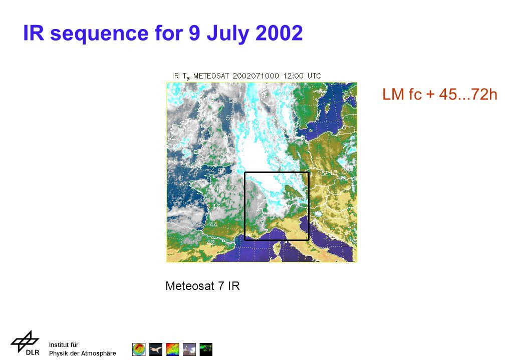 Institut für Physik der Atmosphäre IR sequence for 9 July 2002 Meteosat 7 IR LM fc + 45...72h