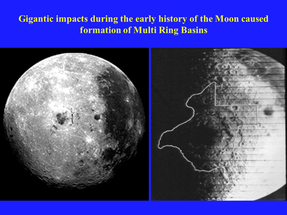 Gigantic impacts during the early history of the Moon caused formation of Multi Ring Basins