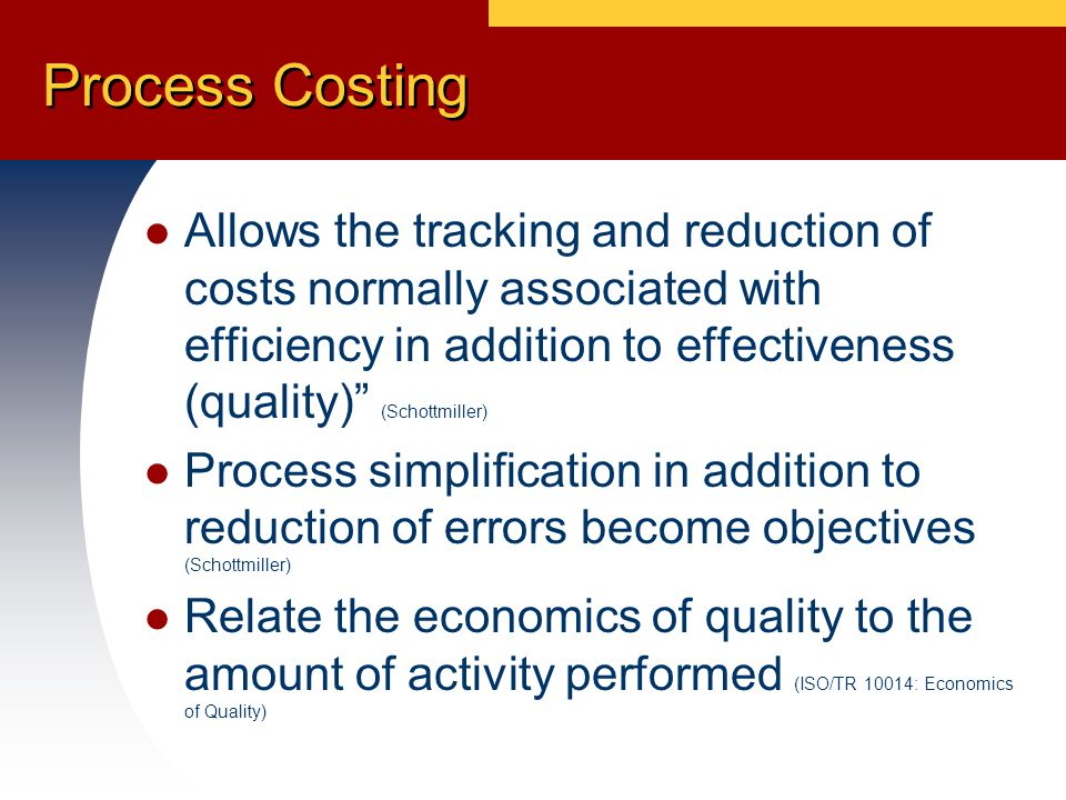 Summary This is more than just the cost/benefit of a QMS, it is the development of a 'Rich Picture' of the business performance