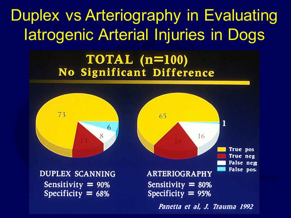 Duplex vs Arteriography in Evaluating Iatrogenic Arterial Injuries in Dogs