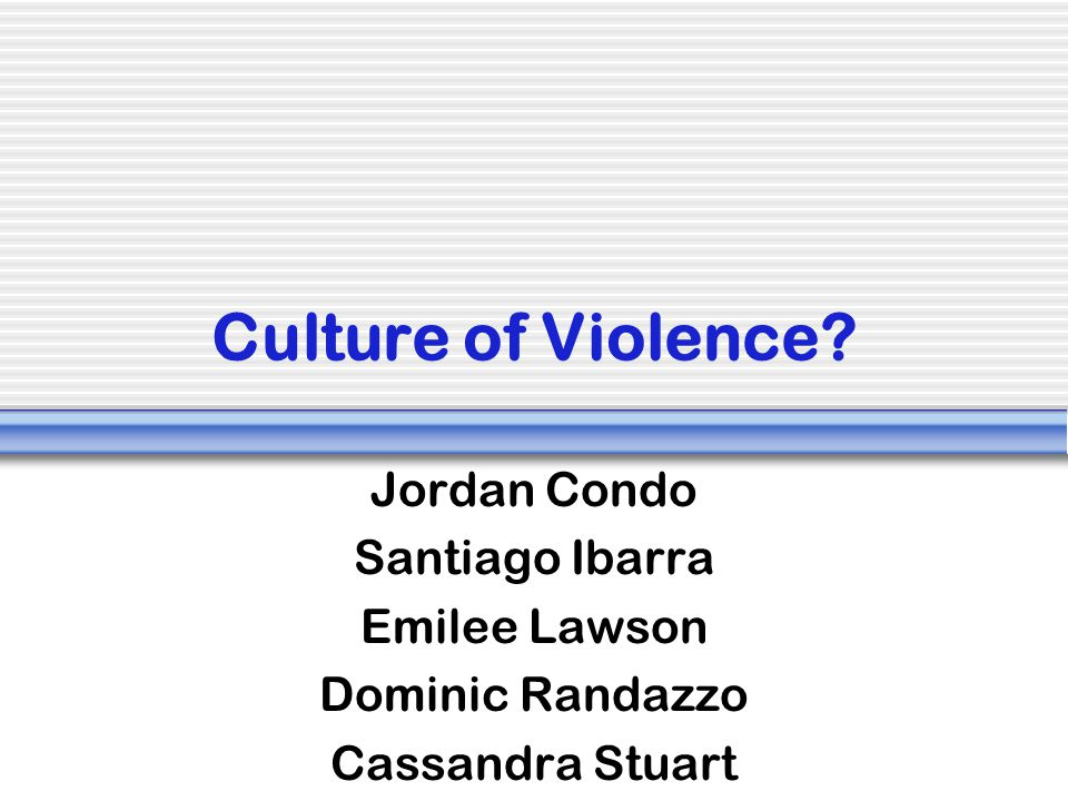 Motivations for Violence When conflict arises people seek security in increasingly smaller and narrower identity groups.