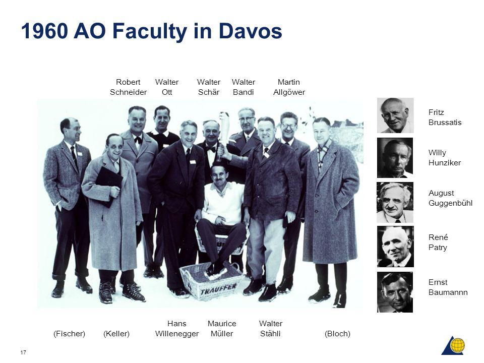 17 1960 AO Faculty in Davos Fritz Brussatis Willy Hunziker August Guggenbühl René Patry Ernst Baumannn Robert Schneider Walter Ott Walter Schär Walter