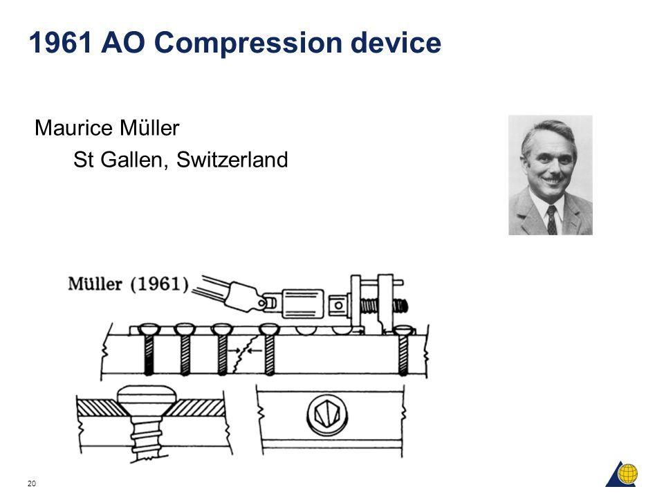 20 1961 AO Compression device Maurice Müller St Gallen, Switzerland