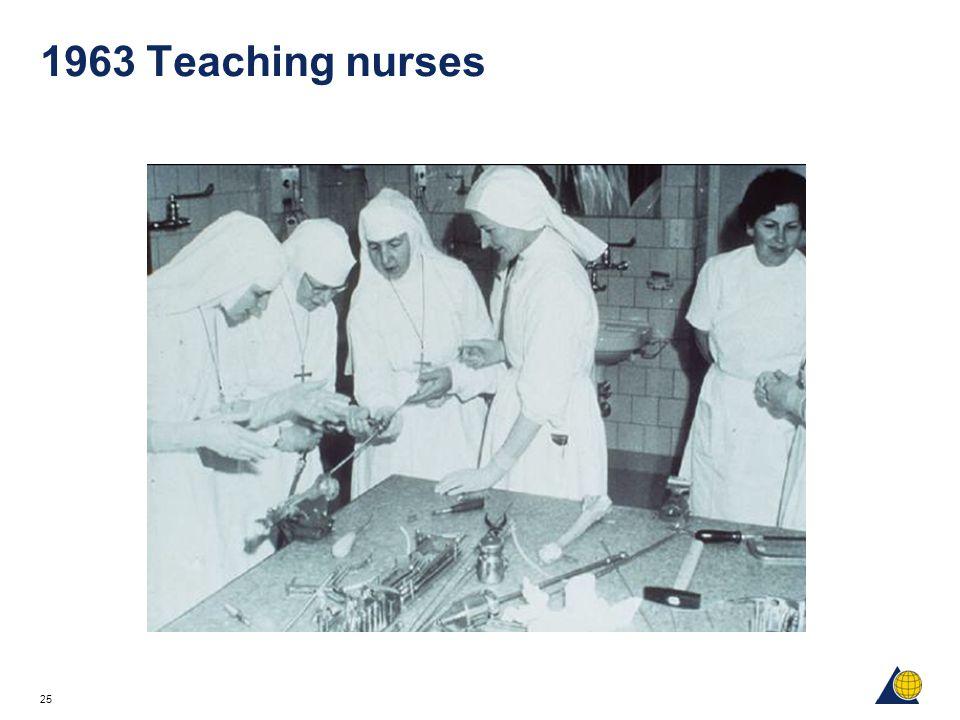 25 1963 Teaching nurses