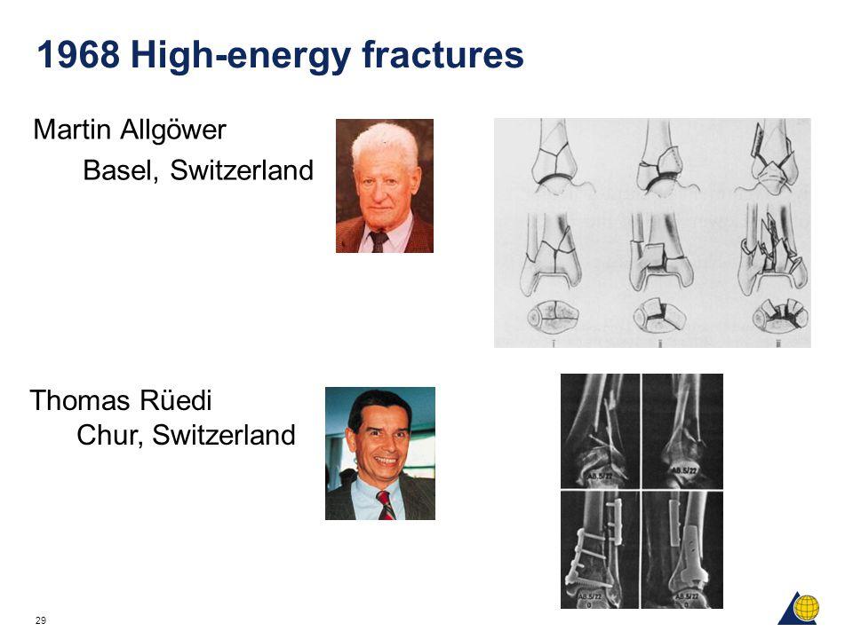 29 1968 High-energy fractures Martin Allgöwer Basel, Switzerland Thomas Rüedi Chur, Switzerland