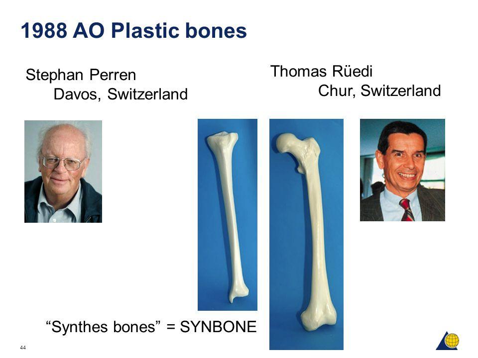 "44 1988 AO Plastic bones Stephan Perren Davos, Switzerland ""Synthes bones"" = SYNBONE Thomas Rüedi Chur, Switzerland"