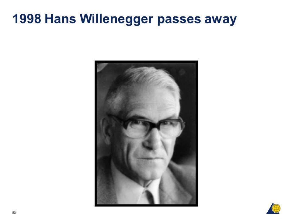60 1998 Hans Willenegger passes away