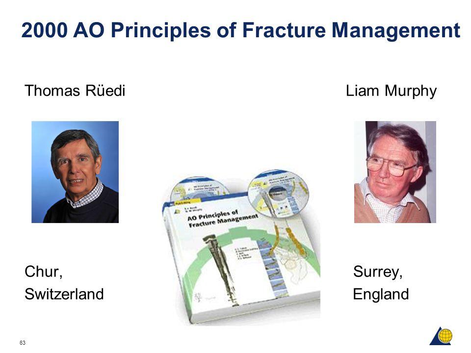 63 2000 AO Principles of Fracture Management Thomas Rüedi Liam Murphy Chur, Surrey, Switzerland England