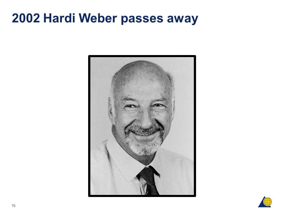 70 2002 Hardi Weber passes away