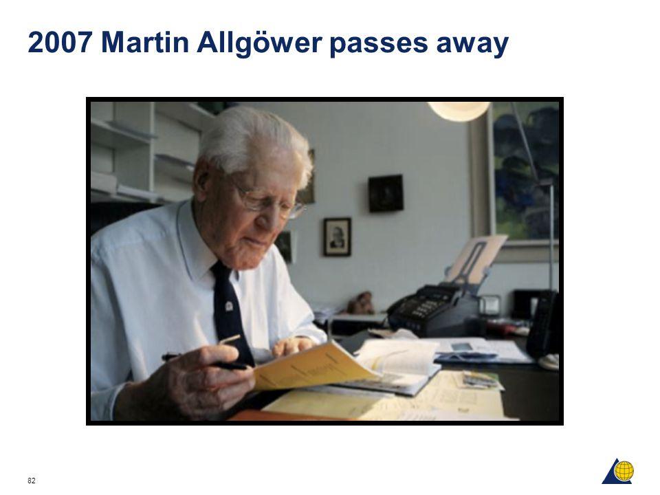 82 2007 Martin Allgöwer passes away