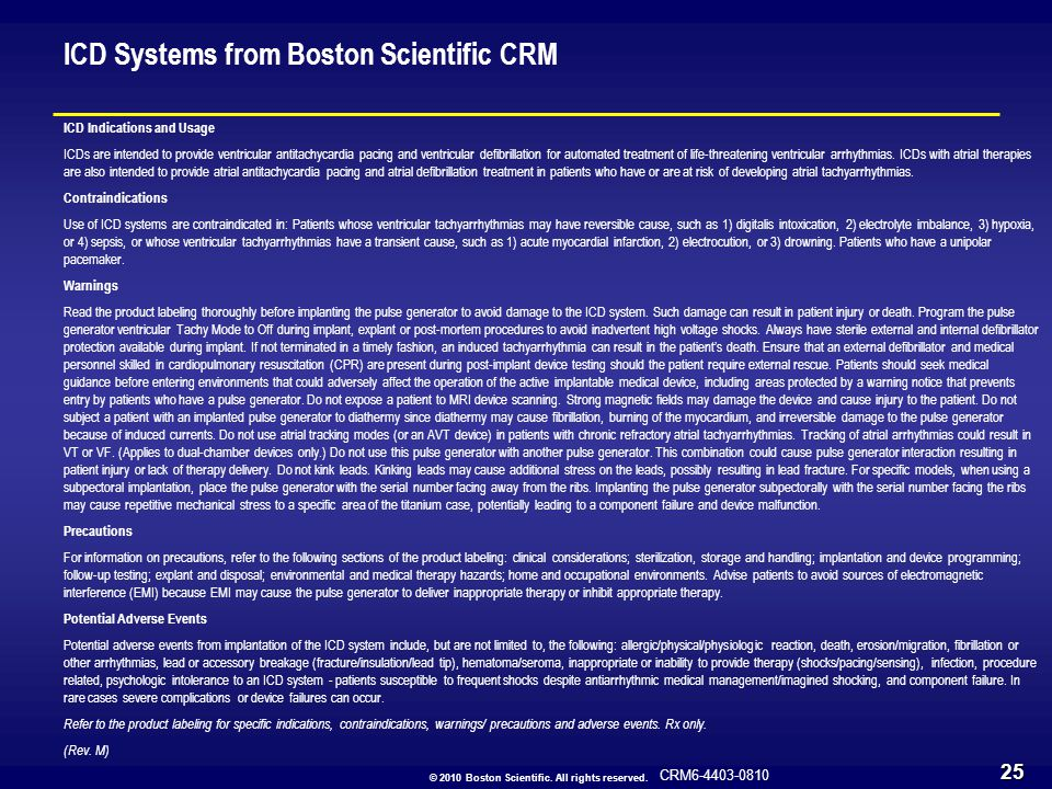 CRM6-4403-0810 © 2010 Boston Scientific.All rights reserved.