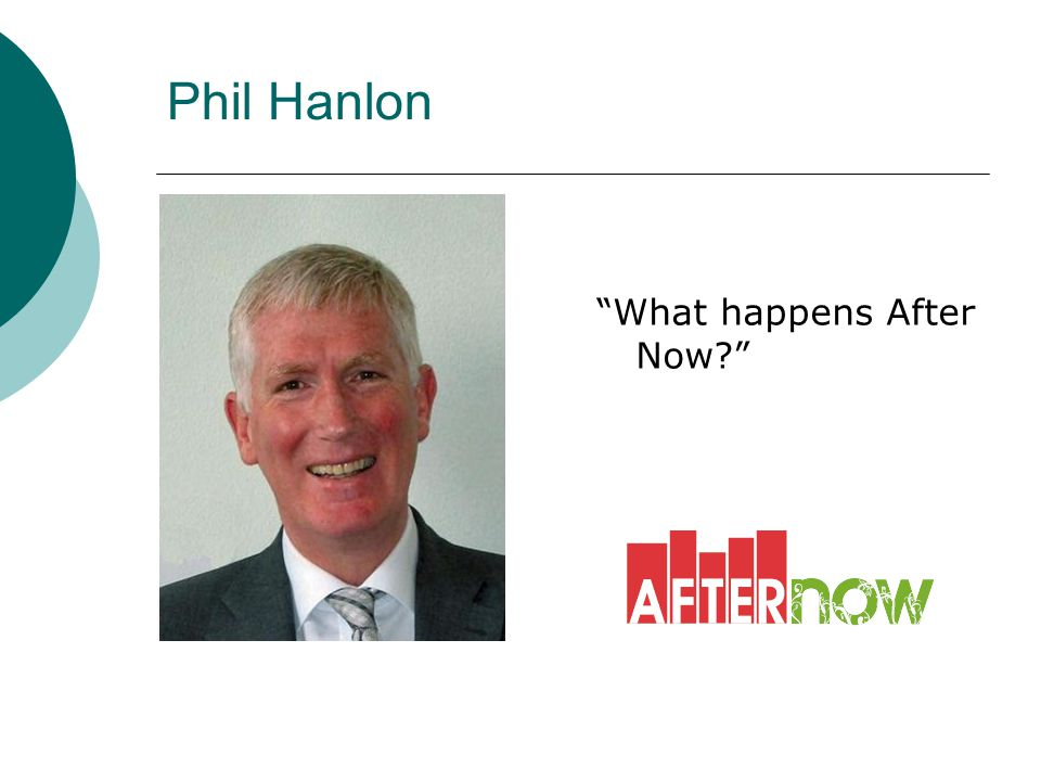 """Phil Hanlon """"What happens After Now?"""""""