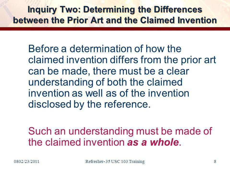 III.The Benefits of Establishing a Prima Facie Case under 35 U.S.C.