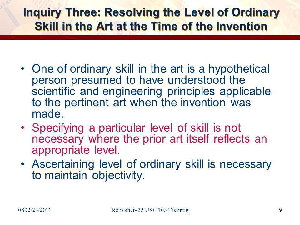 0802/23/2011Refresher- 35 USC 103 Training30 Figures of Application Corresponding to Claim 1