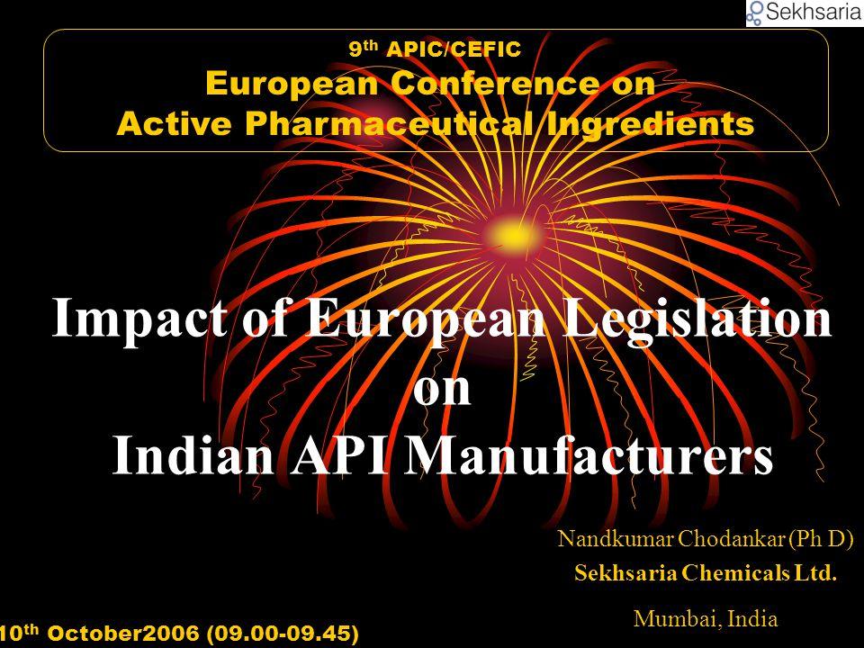 Nandkumar Chodankar (Ph D) Sekhsaria Chemicals Ltd.