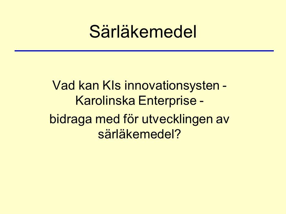 Särläkemedel Vad kan KIs innovationsysten - Karolinska Enterprise - bidraga med för utvecklingen av särläkemedel