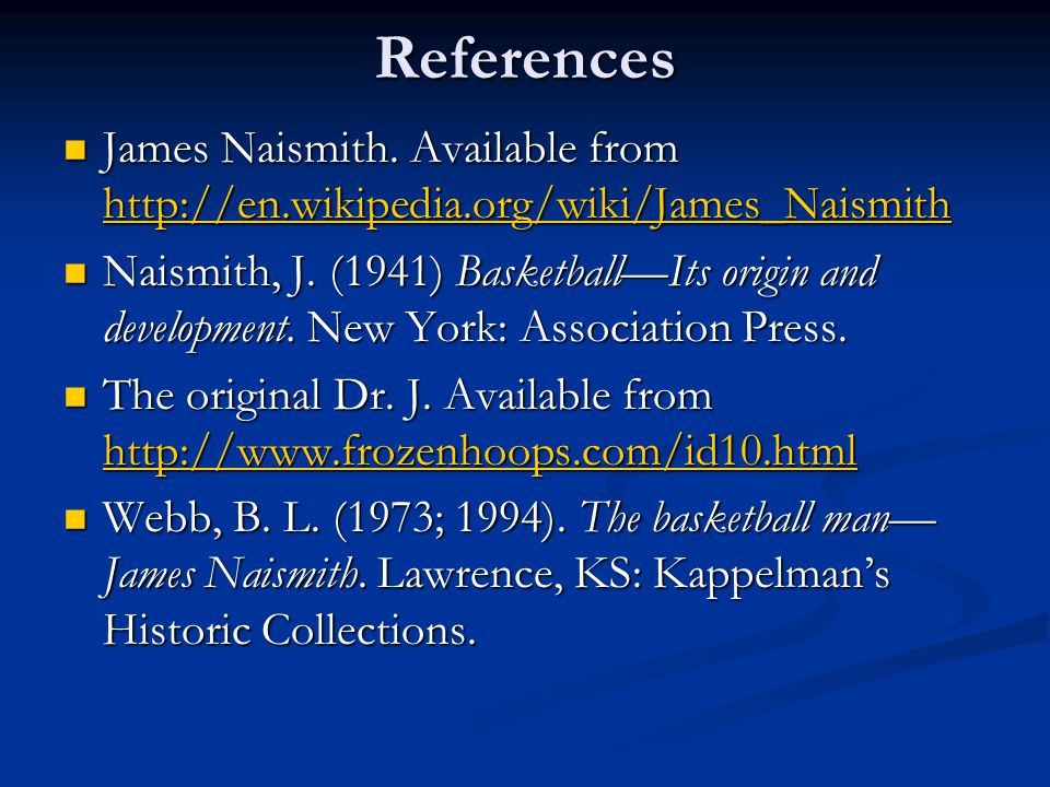 References James Naismith.