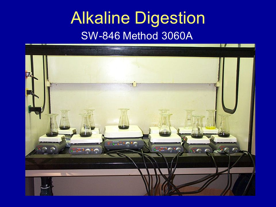 Alkaline Digestion SW-846 Method 3060A