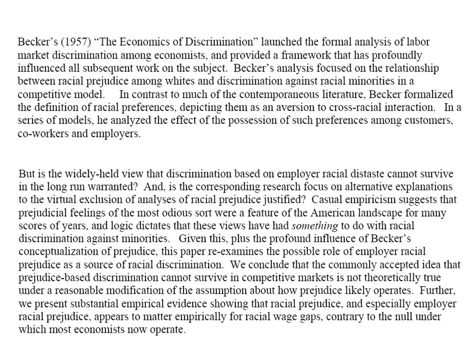 (Together with Pager (2003) using tester experimental data to establish the reality of racial discrimination in the labor market for young unskilled males in NYC and Milwaukee, emphasizing the debilitating effects for blacks of having a criminal record.)