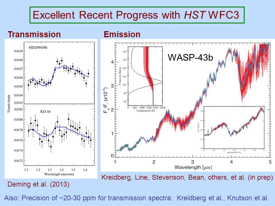 Excellent Recent Progress with HST WFC3 Deming et al.