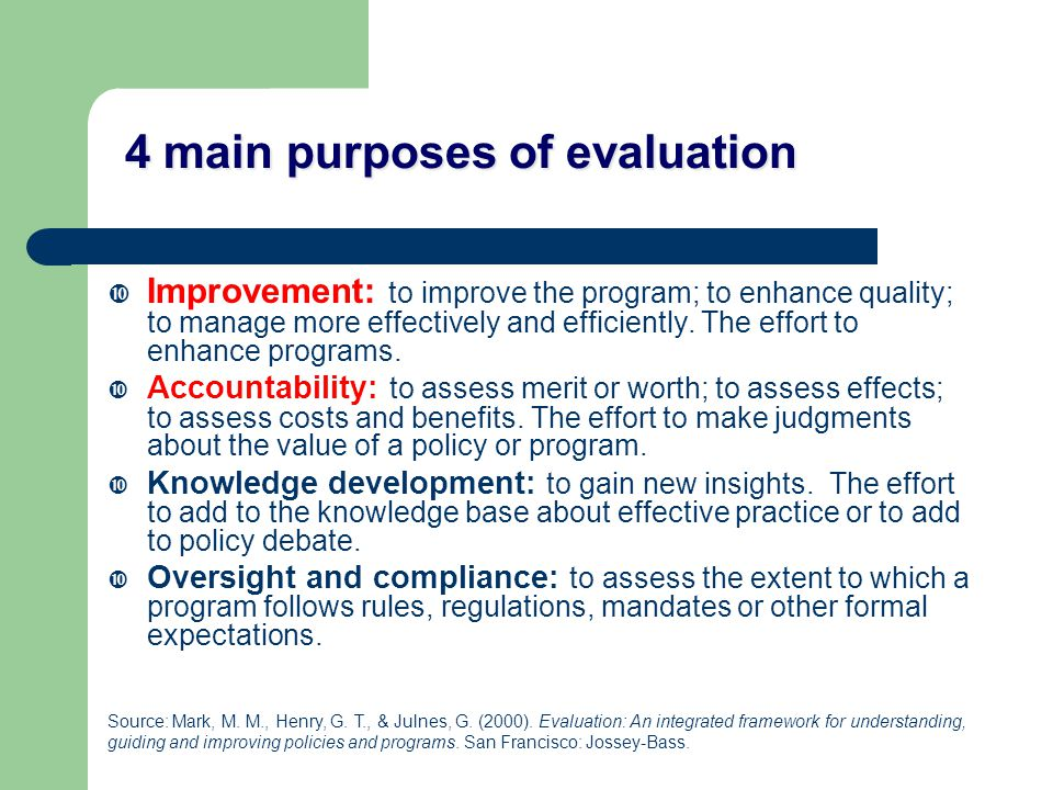 Identify key evaluation questions Who wants to know what about this program?