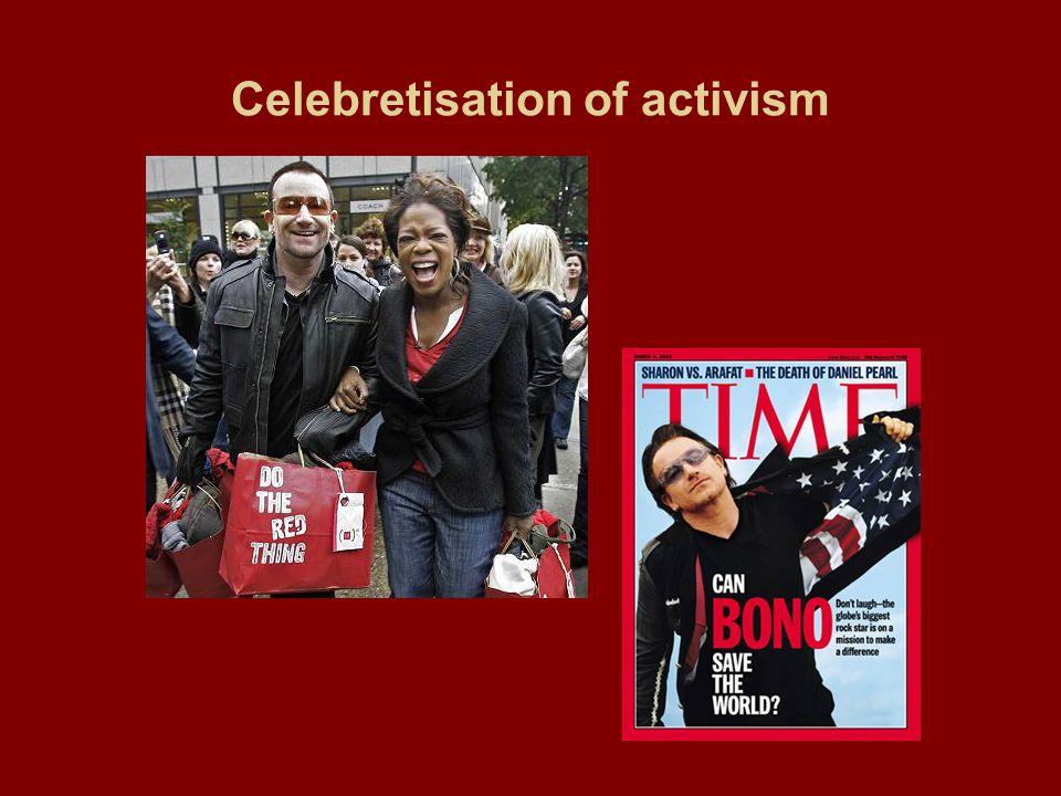 Celebretisation of activism