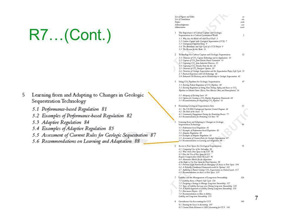 R7…(Cont.) 7