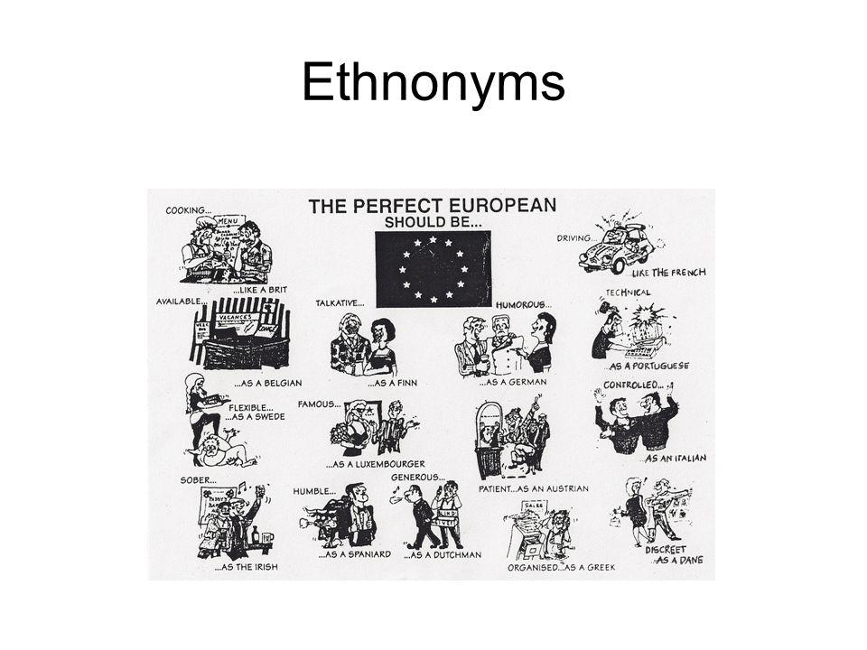 Ethnonyms