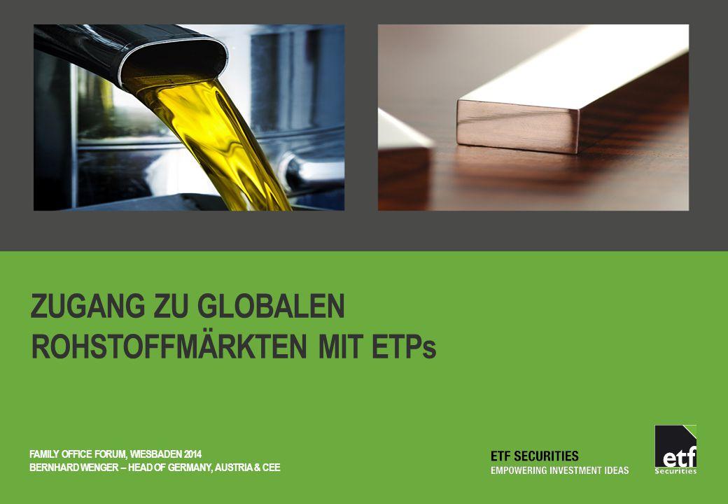 ZUGANG ZU GLOBALEN ROHSTOFFMÄRKTEN MIT ETPs FAMILY OFFICE FORUM, WIESBADEN 2014 BERNHARD WENGER – HEAD OF GERMANY, AUSTRIA & CEE
