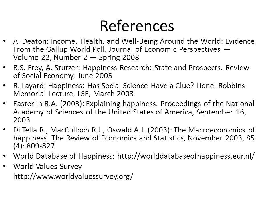 References A.
