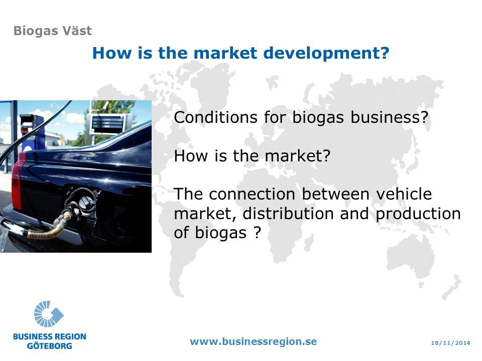 18/11/2014 www.businessregion.se Biogas Väst Conditions for biogas business.