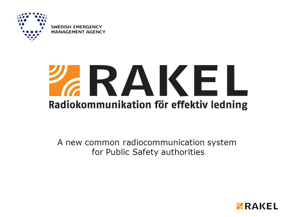 A new common radiocommunication system for Public Safety authorities