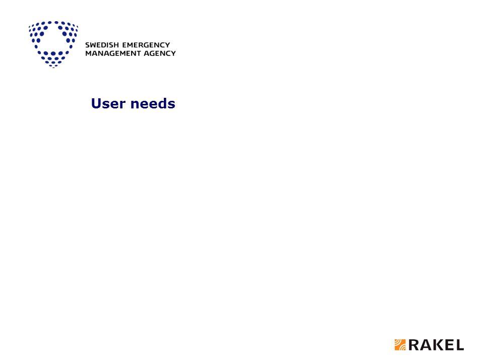 User needs