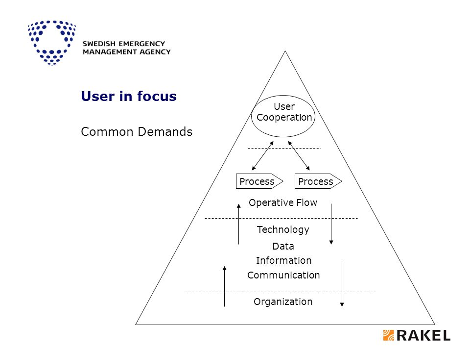 Process Data Communication Information Organization Technology User Cooperation User in focus Operative Flow Common Demands