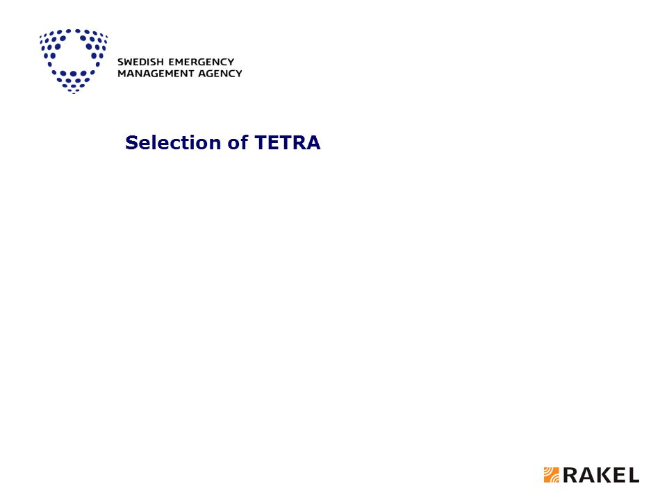 Selection of TETRA