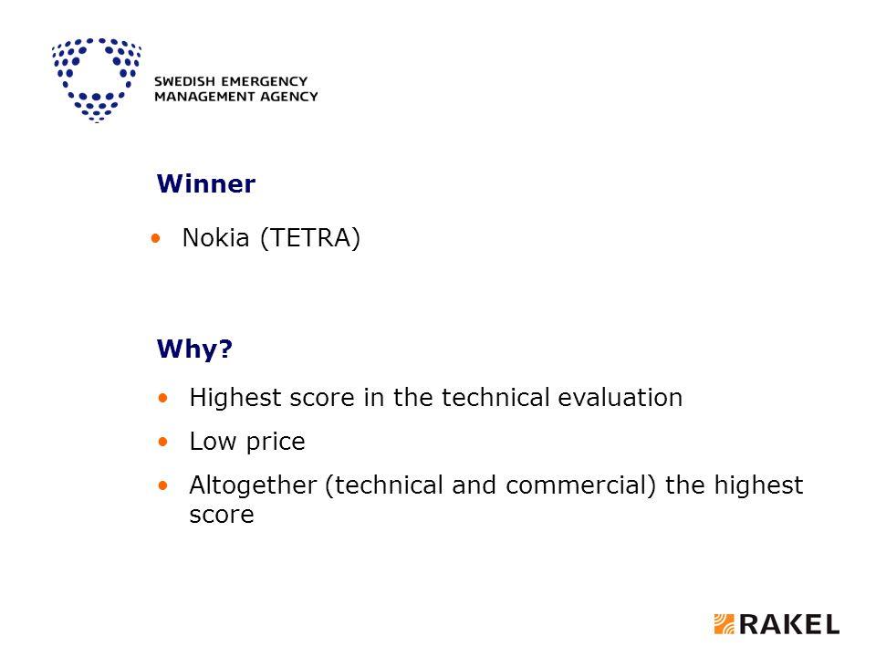 Winner Nokia (TETRA) Why.