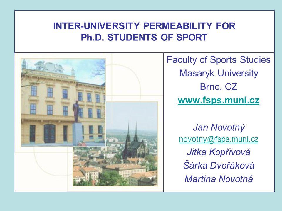 INTER-UNIVERSITY PERMEABILITY FOR Ph.D.