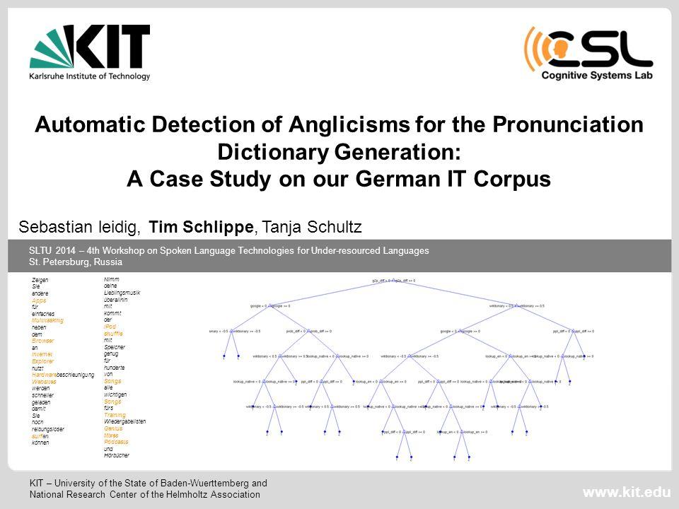 SLTU 2014 – 4th Workshop on Spoken Language Technologies for Under-resourced Languages St.