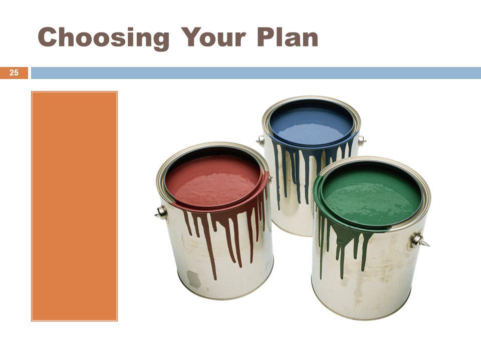 Choosing Your Plan 25